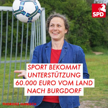 Thordies Hanisch fängt Fußball